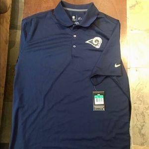 Brand New Nike Dri-Fit LA Rams Polo